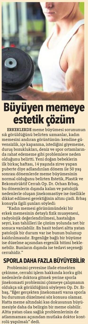 Erkek Meme Estetiği Jinekomasti Hürriyet Ankara