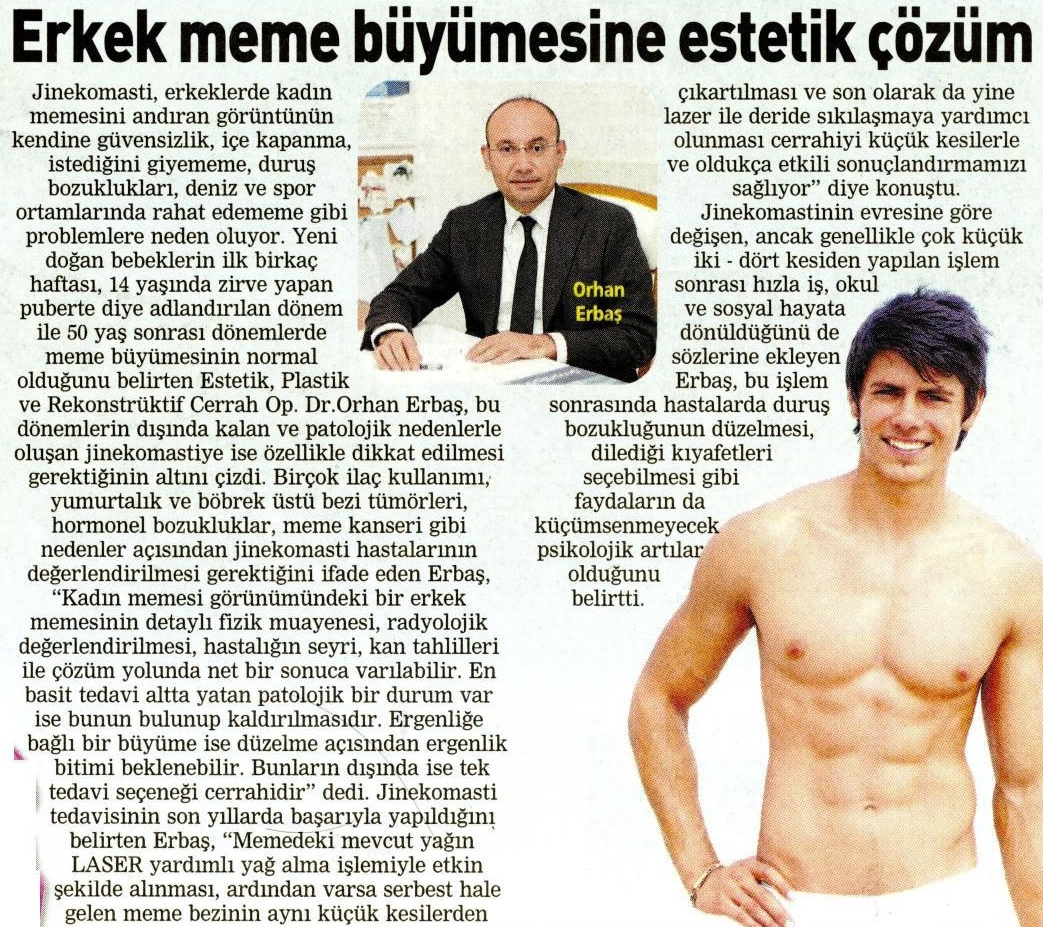 Ankara Erkek Meme Büyüme Jinekomasti Estetik